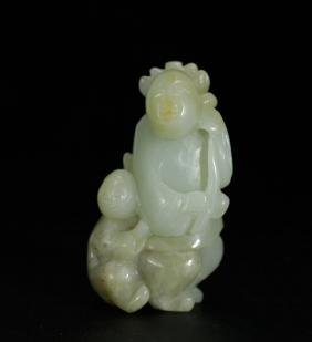 Qing Dynasty Chinese Jade Carved Figure