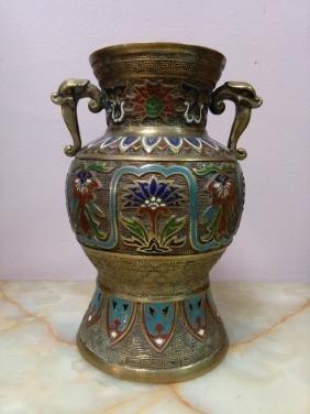 Chinese Cloisonne Bronze Vase