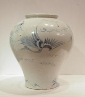 Korean Blue/White Porcelain Jar