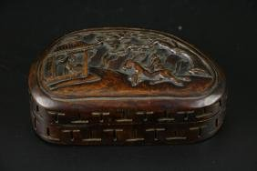 19th C. Box Wood Erotic Carving