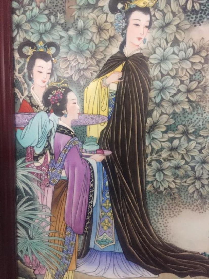 Chinese Famille Rose Porcelain Plaque w/ Frame - 6