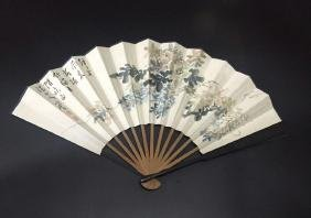 Chinese Ink Fan Painting, Signed Fu Xing She