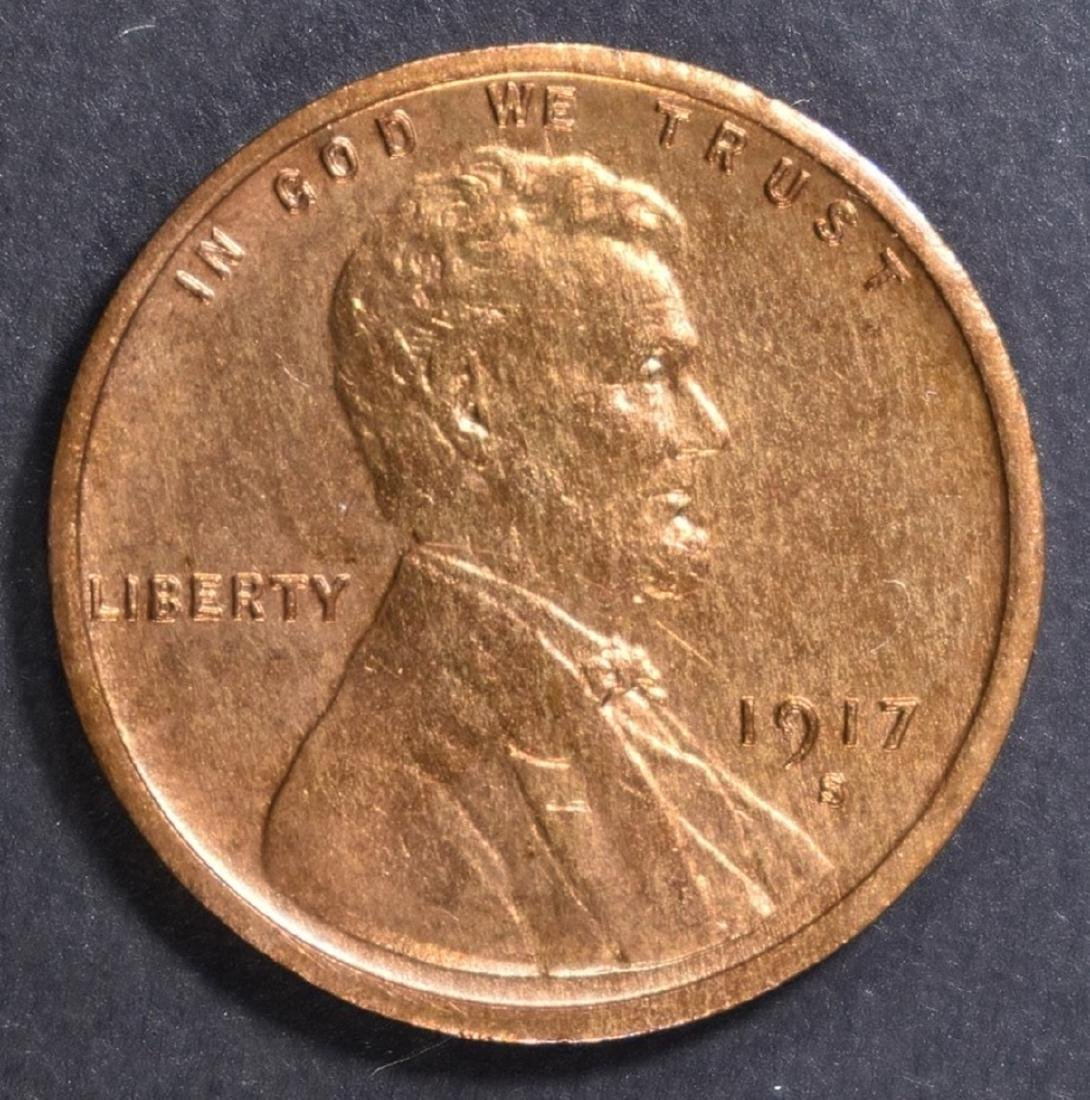 1917-S LINCOLN CENT BU RD
