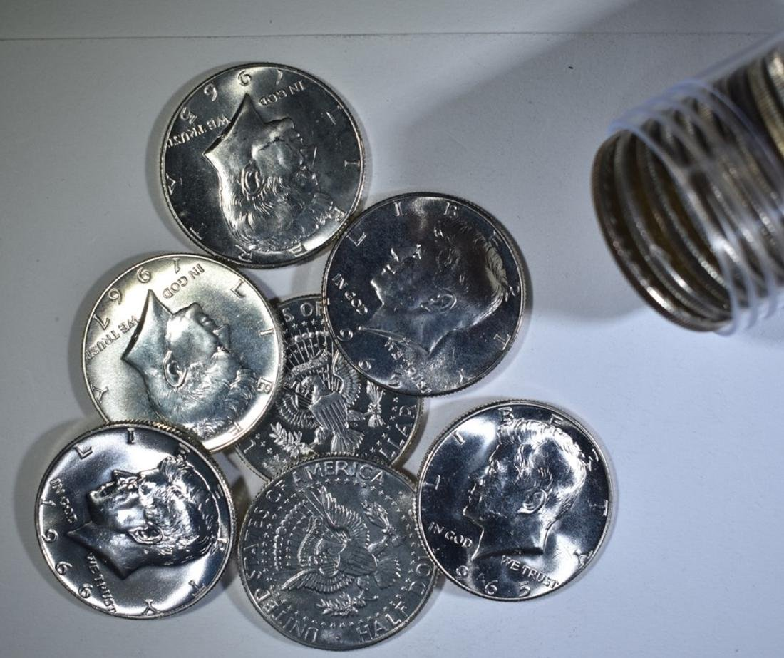 MIXED DATE ROLL OF SMS KENNEDY HALVES