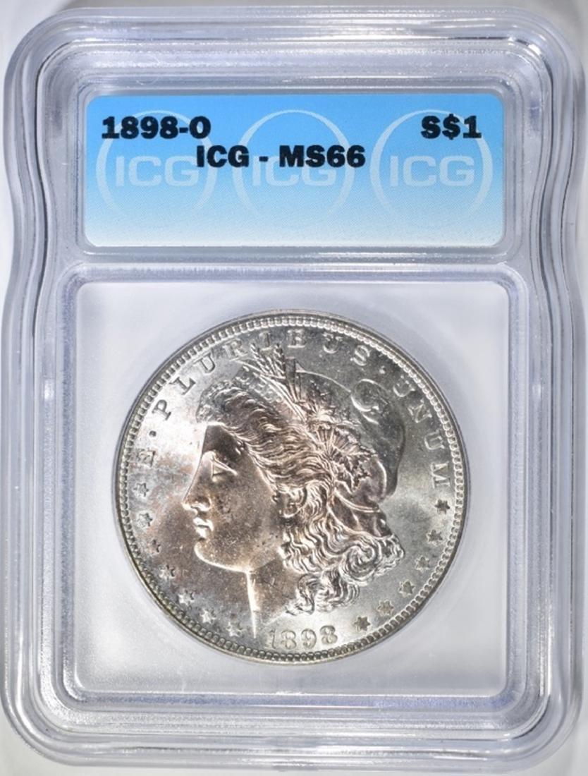 1898-O MORGAN DOLLAR  ICG MS-66