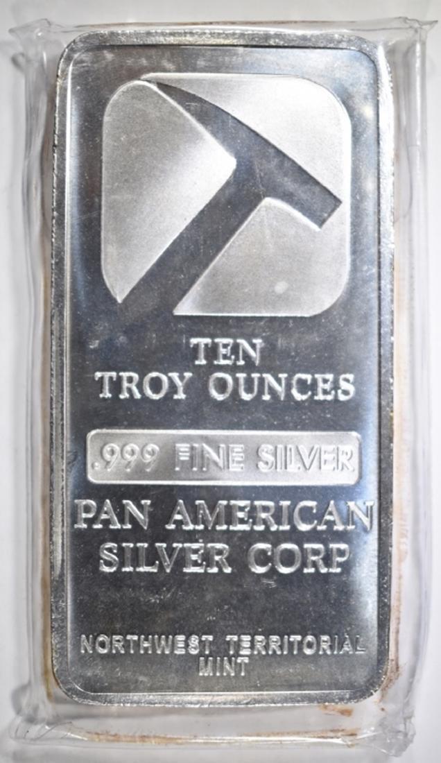 TEN Oz .999 SILVER BAR, PAN AMERICAN SILVER CORP