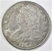 "1823 BROKEN ""3"" BUST HALF DOLLAR CH AU"