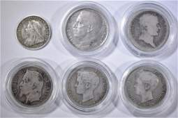 6 FOREIGN COIN LOT