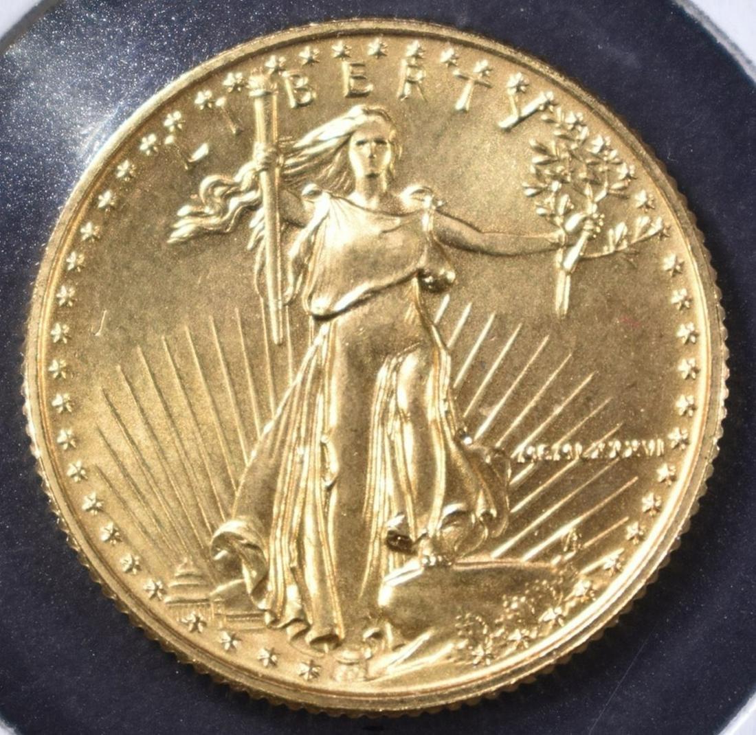 1986 BU 1/4th  OUNCE GOLD EAGLE