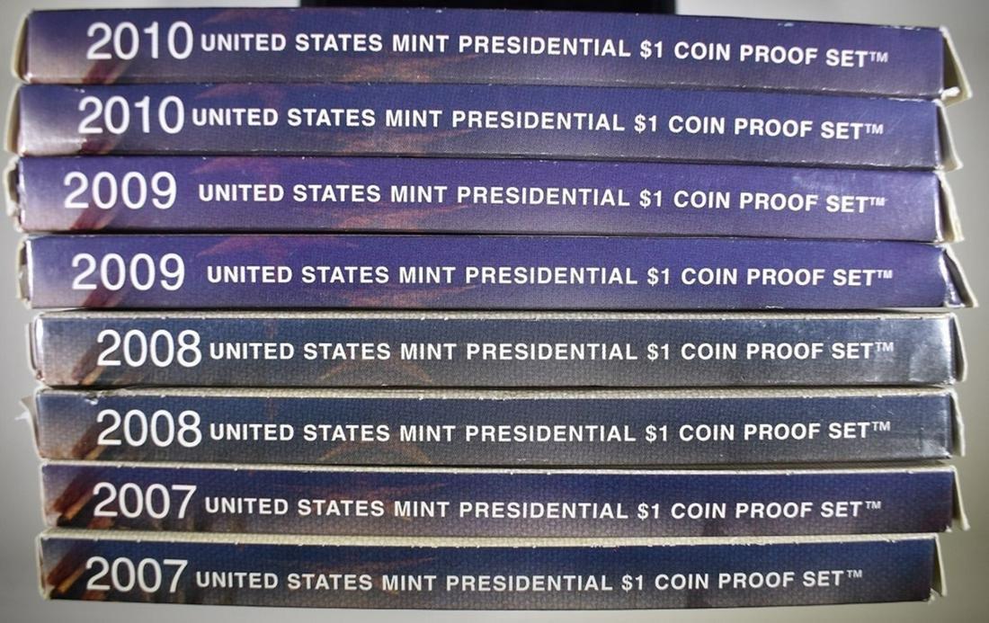 2-EACH 2007-2010 U.S. PRESIDENTIAL PROOF SETS