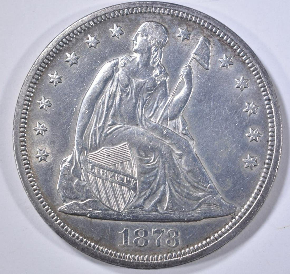 1873  SEATED LIBERTY DOLLAR  CH BU