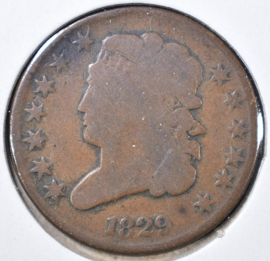 1829 HALF CENT GOOD