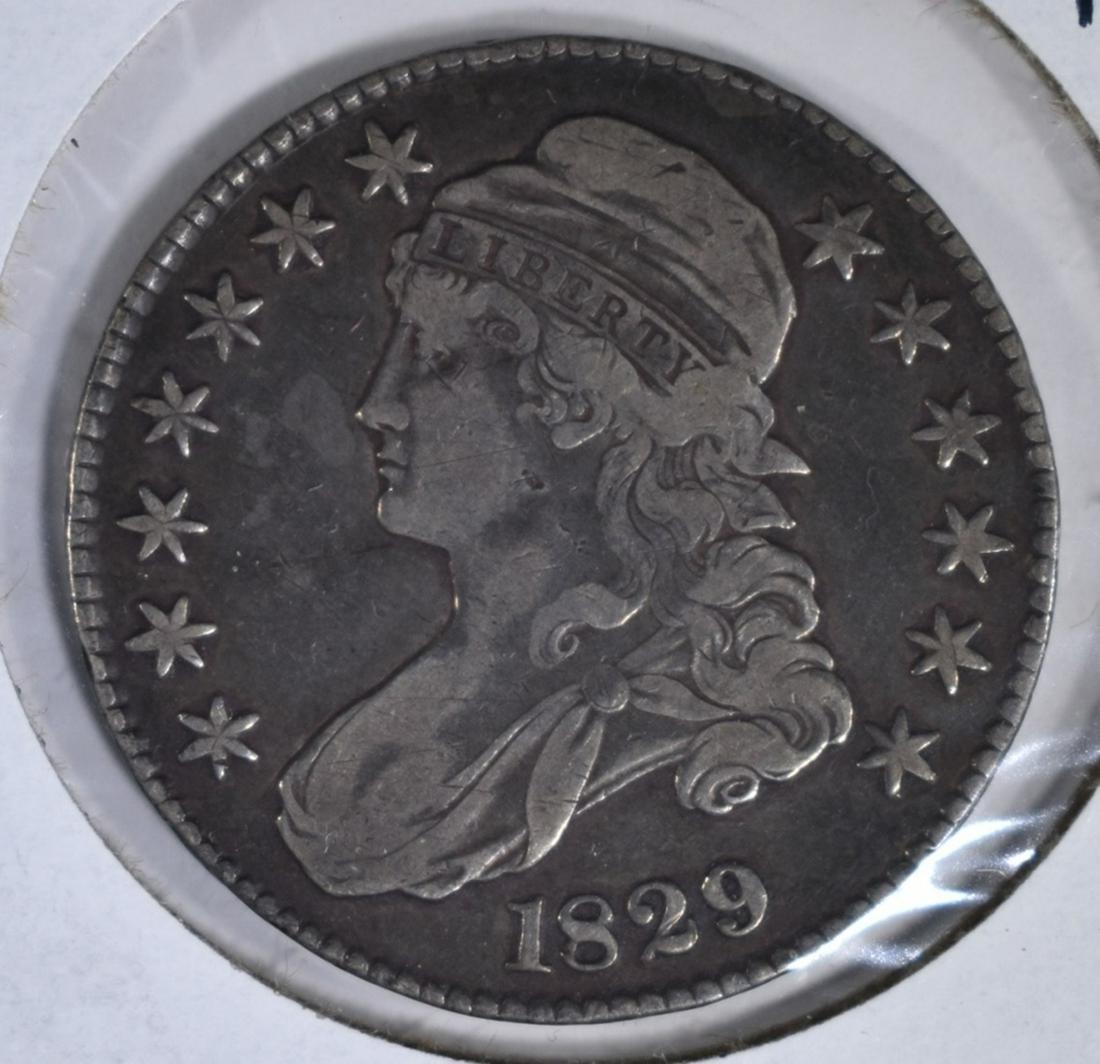 1829 BUST HALF DOLLAR, VF