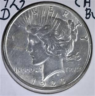1923D PEACE DOLLAR CH BU