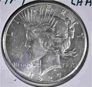 1927 PEACE DOLLAR CH AU