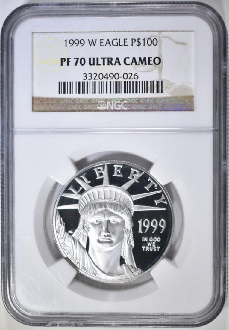 1999-W $100 PLATINUM EAGLE NGC PF-70 ULTRA CAMEO