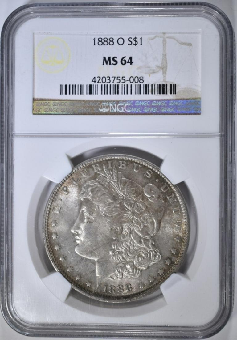 1888-O MORGAN DOLLAR  NGC MS-64
