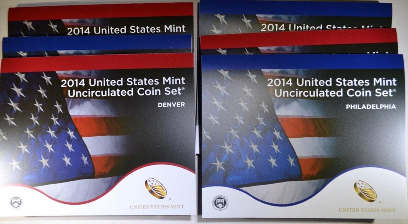 3-2014 U.S. MINT UNC SETS
