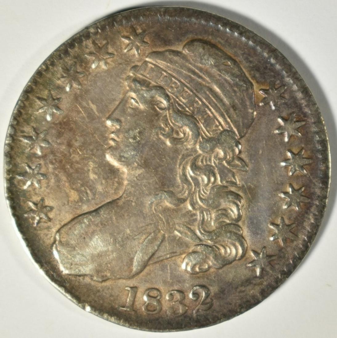 1832 CAPED BUST HALF DOLLAR  SMALL LETTERS AU/BU