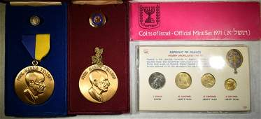 MEDAL AND FOREIGN COIN LOT SEE DESCRIPTION