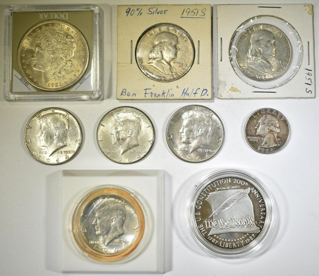 MISC. U.S. SILVER COIN LOT: