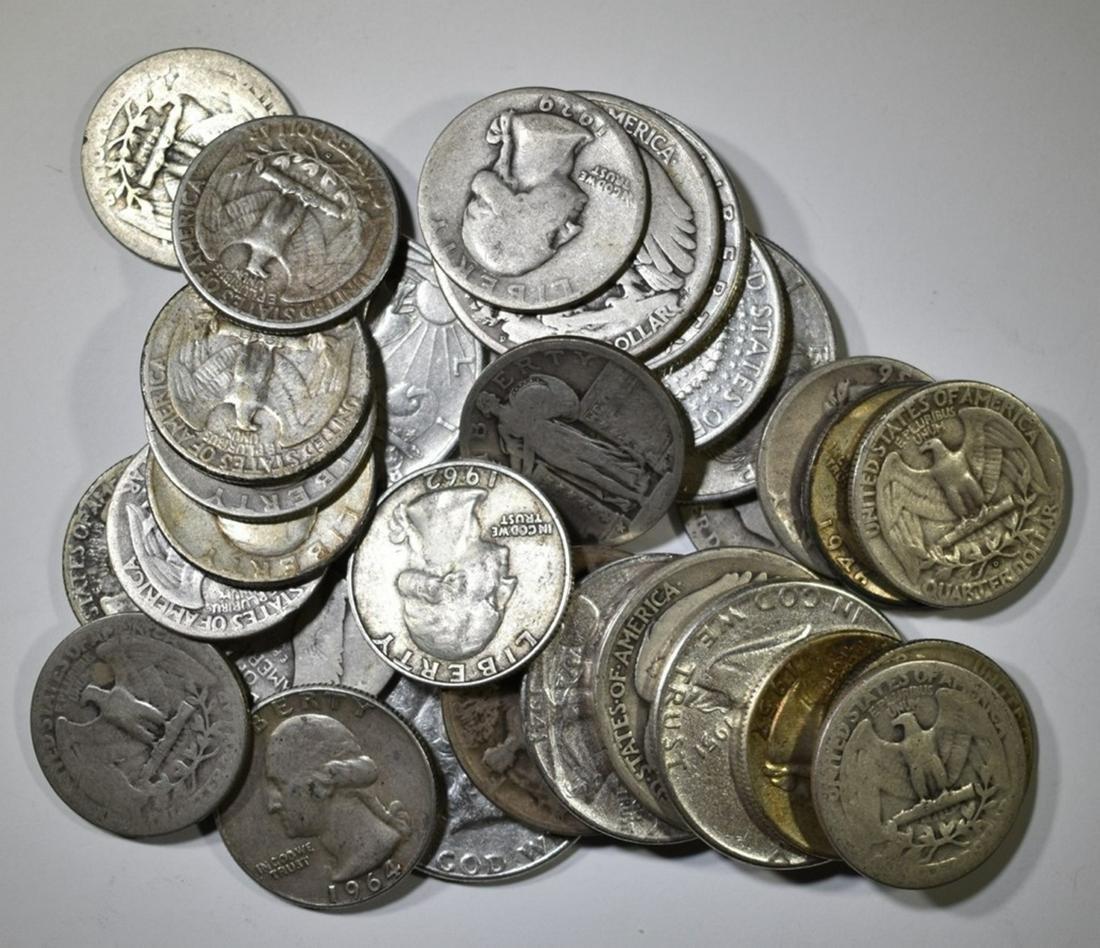 $10 FACE VALUE CIRC  90% SILVER U.S. COINS