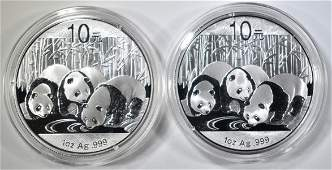 22013 1oz SILVER CHINESE PANDA COINS