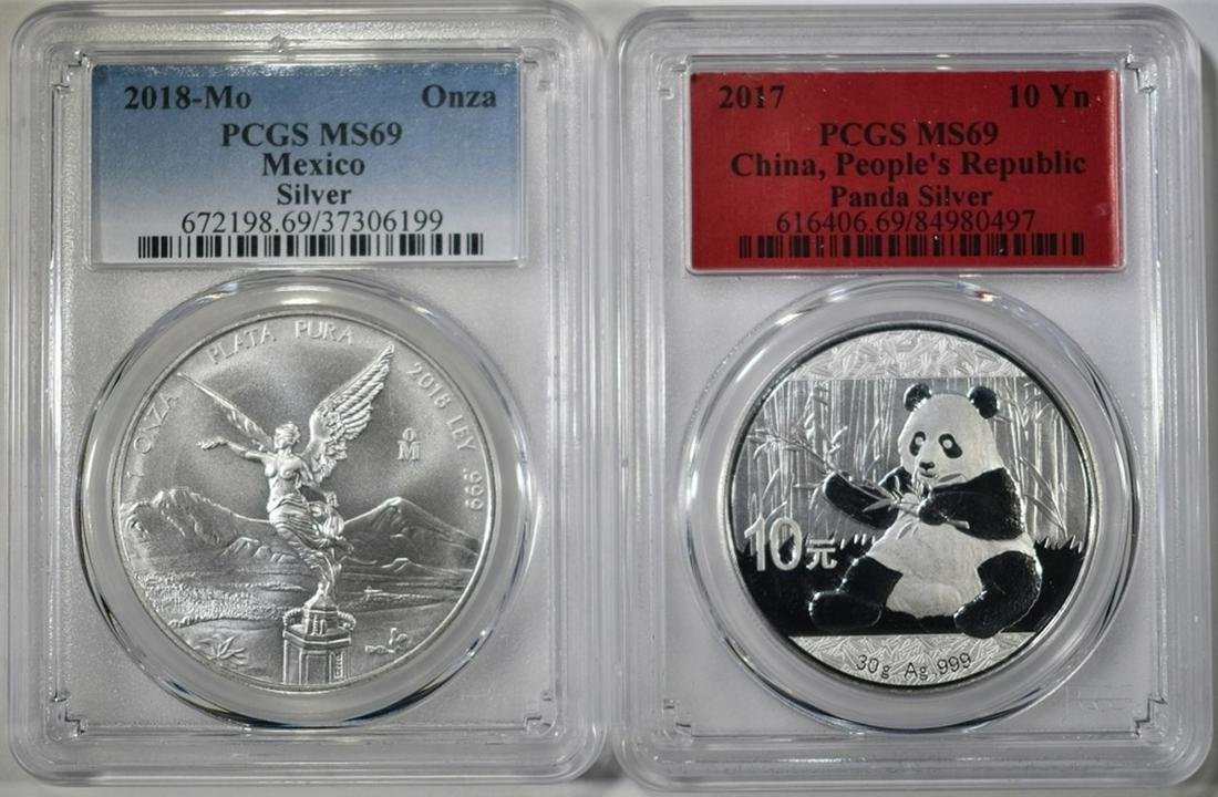 2 PCGS GRADED SILVER COINS:
