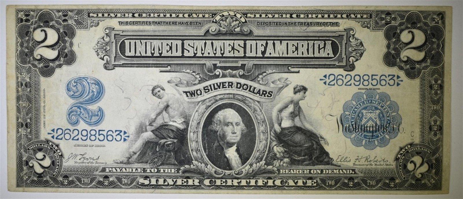 1899 $2 SILVER CERTIFICATE FINE