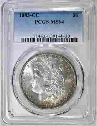 1883CC MORGAN DOLLAR PCGS MS64