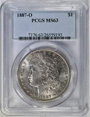 1887O MORGAN DOLLAR PCGS MS63
