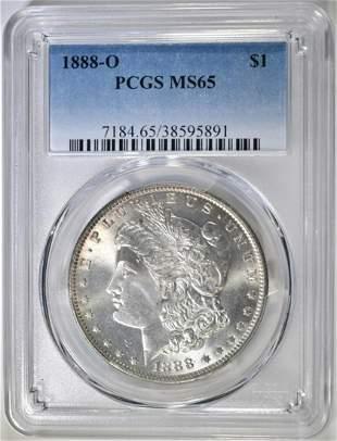 1888O MORGAN DOLLAR PCGS MS65