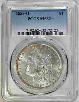 1889O MORGAN DOLLAR PCGS MS62