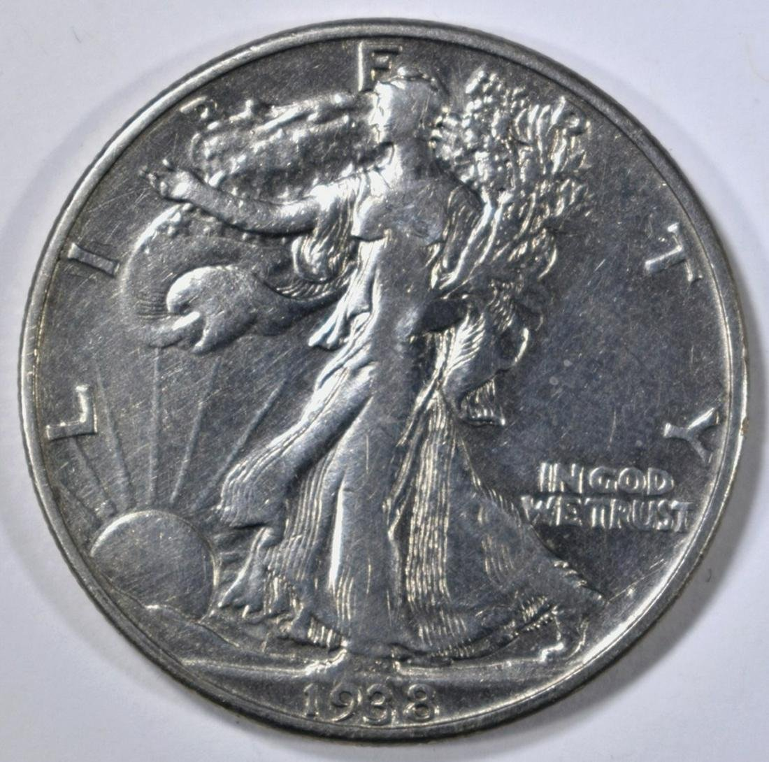 1938-D WALKING LIBERTY HALF FINE
