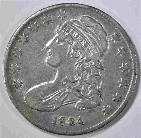 1834 BUST HALF DOLLAR XF