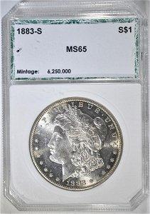1883-S MORGAN DOLLAR  PCI GEM BU