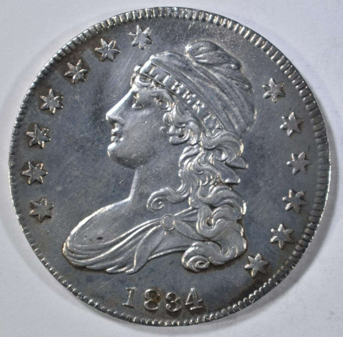 1834 BUST HALF DOLLAR  AU/BU