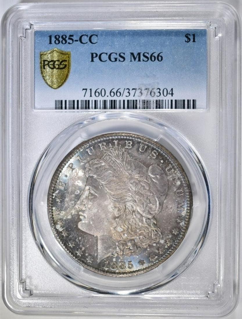 1885-CC MORGAN DOLLAR  PCGS MS-66