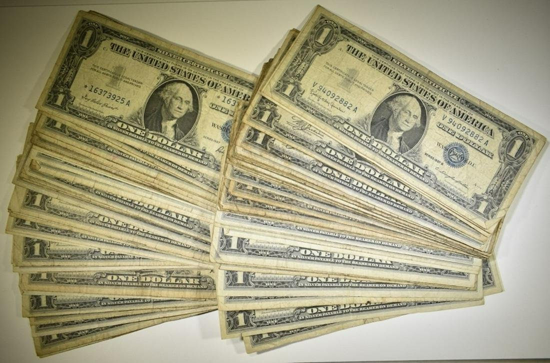 90 $1 SILVER CERTIFICATES  SOME STAR NOTES