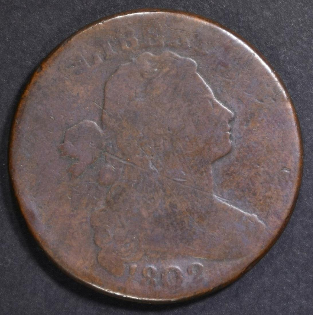 1802 LARGE CENT GOOD, SCRATCHES