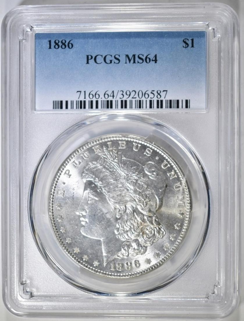 1886 MORGAN DOLLAR, PCGS MS-64