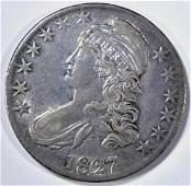 1827/6 BUST HALF DOLLAR XF+