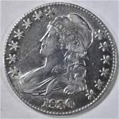 1830 BUST HALF DOLLAR AU
