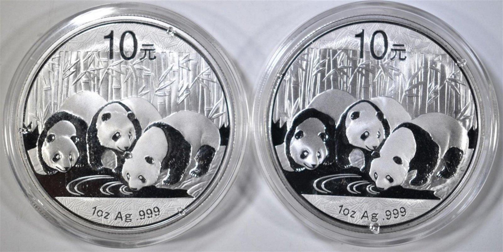 2 2013 10 YUAN CHINESE PANDAS