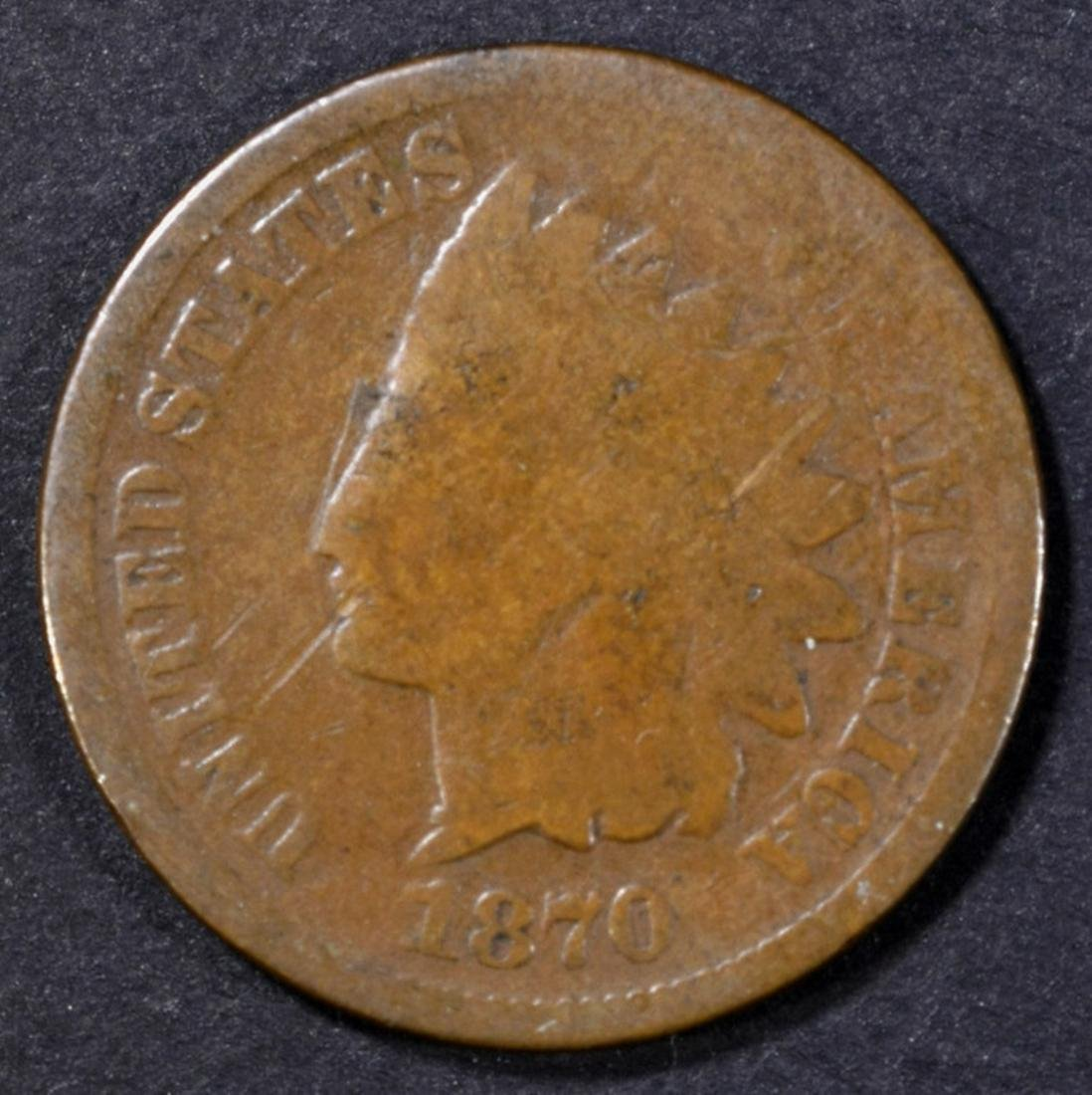 1870 INDIAN CENT GOOD