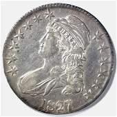 1827/6 BUST HALF DOLLAR, XF+