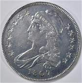 1807 SMALL STARS BUST HALF DOLLAR AU