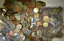 FOREIGN COIN AND TOKEN COLLECTORS LOT