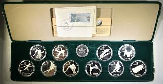 CANADA 1988 OLYMPIC 10COIN SILVER PROOF SET