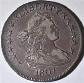 1807 DRAPED BUST HALF DOLLAR LOVELY ORIG XF+